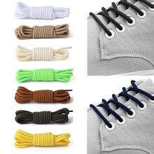 1 пара круглых однотонных шнурков, высокое качество, Полиэстеровые шнурки, классические круглые шнурки для кроссовок, ботинок, шнурков