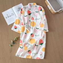 100% хлопковое газовое банный халат ночная рубашка японское