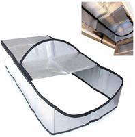 Attic Stairway Cover Attic Stairs Insulation Tent Double sided Aluminum Foil Door Insulator Kit With Easy Access Zipper For Home