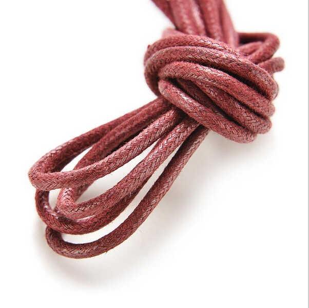 1 par de cordones encerados en 8 colores para zapatos de cuero cordones Cordones redondos botas Martin cordones de zapatos deportivos cuerdas
