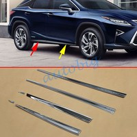 (SET OF 6) Chrome Door Body Molding For Lexus RX350 RX450h AL20 2016 2017 Accessories Decoration