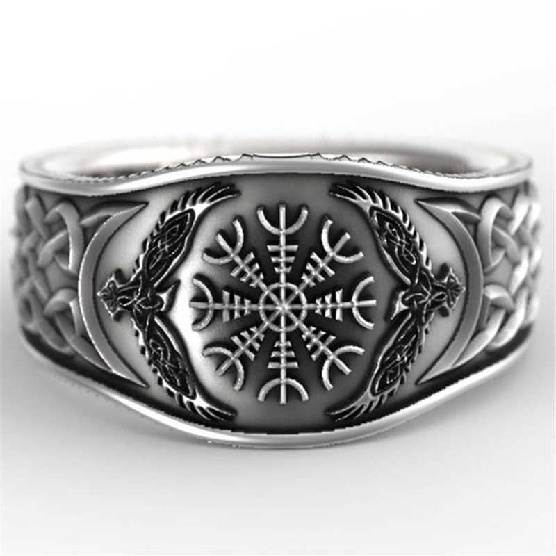 FDLK     High Quality Fashion Mens Viking Vintage Compass Ring For Cool Boys And Friends