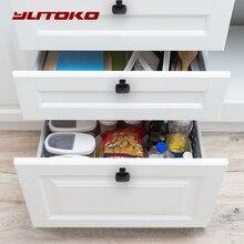 Yutoko Cổ Điển Đen Tay Cửa Kim Loại Ngăn Kéo Tủ Bếp Tay Cầm Và Núm Đồ Nội Thất Tay Cầm Phần Cứng