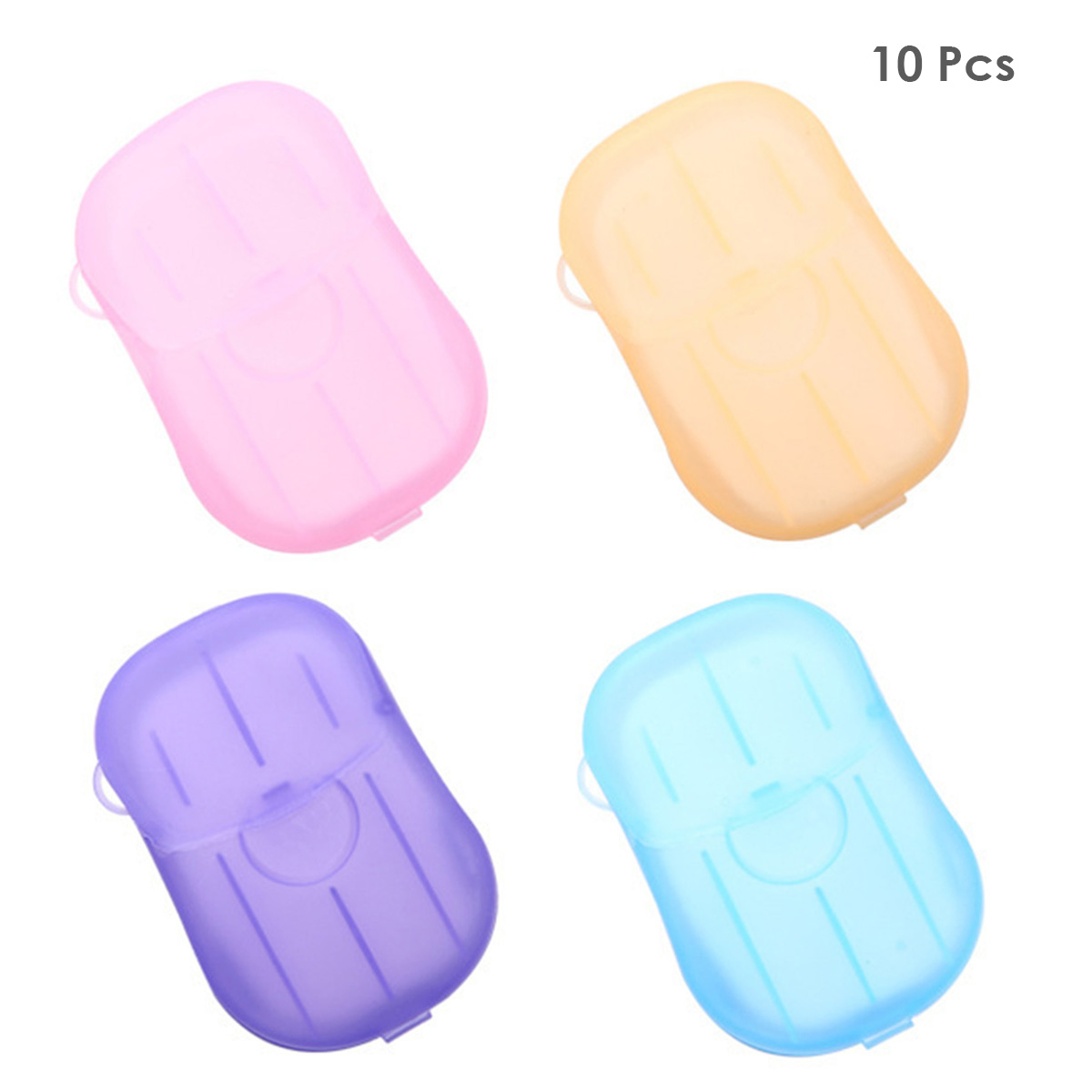 10 Pack Disposable Paper Soap Travel Foaming Paper Soap Flakes Outdoor Washing Hand Portable Disposable Paper Soaps Random Color