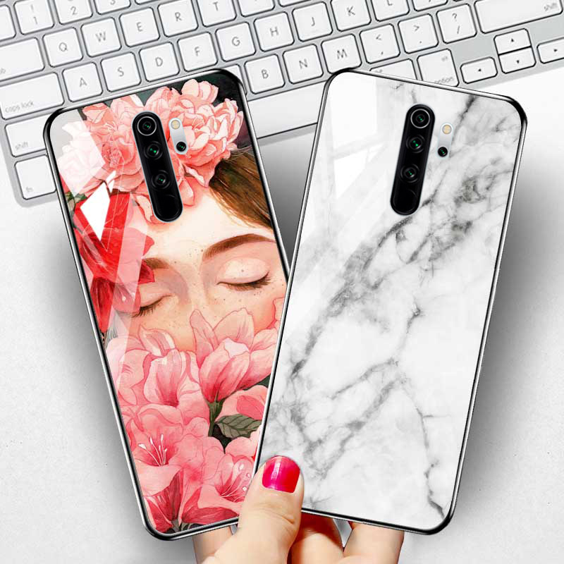 3D Tempered Glass Case For Xiaomi <font><b>Redmi</b></font> Note 9s 9 8T <font><b>7</b></font> Pro Case Cover <font><b>Xiomi</b></font> Mi Note 10 Lite Mi 10 5G Phone Cases Silicone Bumper image
