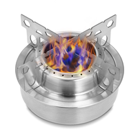 Portable Mini Aluminum Alloy Alcoho Stove with Lid Outdoor Camping Hiking Backpacking Cooking Stove