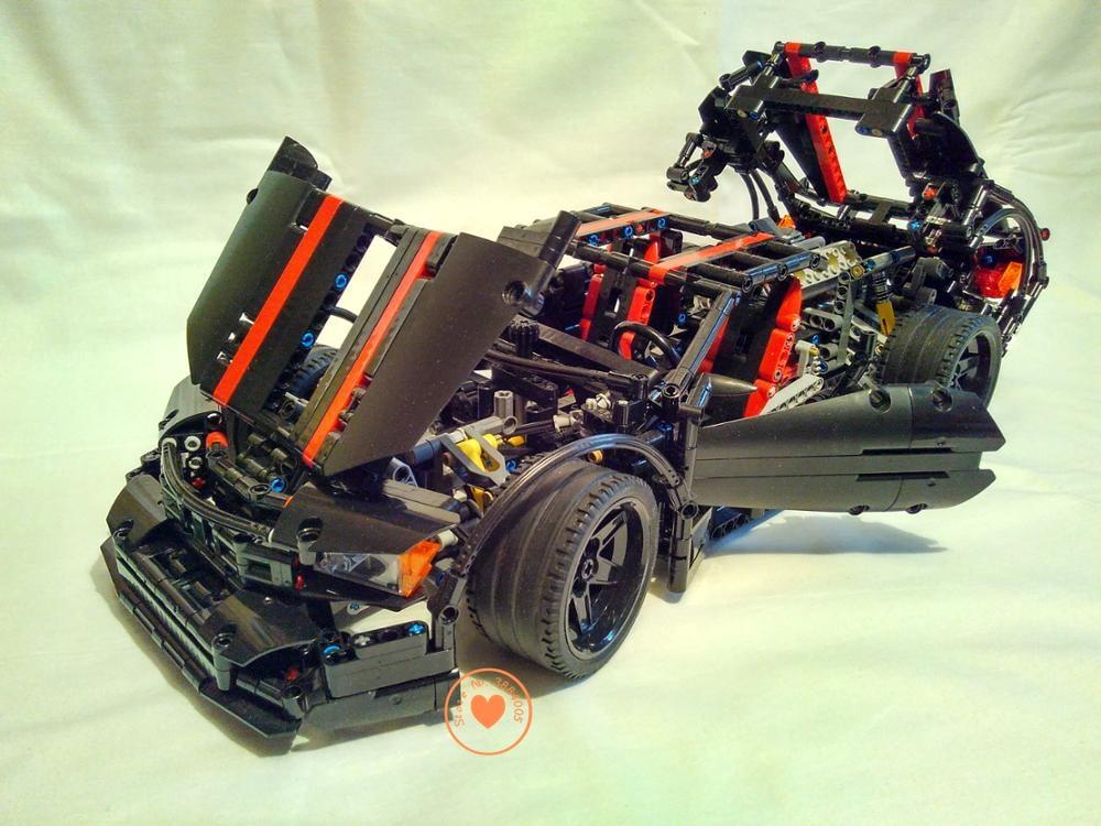 NEW MOC  Assassin X19 Children Model Car Fit Legoings Technic Racer Model City Building Block Bricks Diy Toy Gift Kid Birthday