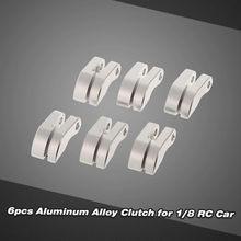 Acessórios do carro de controle remoto 6 pçs liga alumínio embreagem & primavera prata gás nitro peças motor para 1:8 carro 1.10
