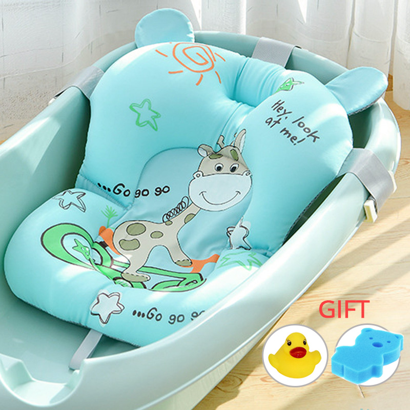 Infant Baby Bath Pad NewBorn Shower Portable Air Cushion Bed Babies Non-Slip Bathtub Mat Safety Security Bath Seat Dropshipping