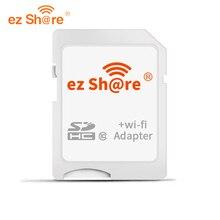 Ez Share wifi Sd карта адаптер класс 10 sdhc Беспроводной для Micro Sd карты памяти ридер флэш доступны для canon/nikon/sony DSLR