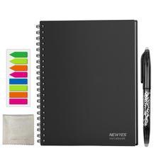 Caderno apagável reusável inteligente papel apagar bloco de notas forrado com caneta bolso diário diário escritório escola desenho presente