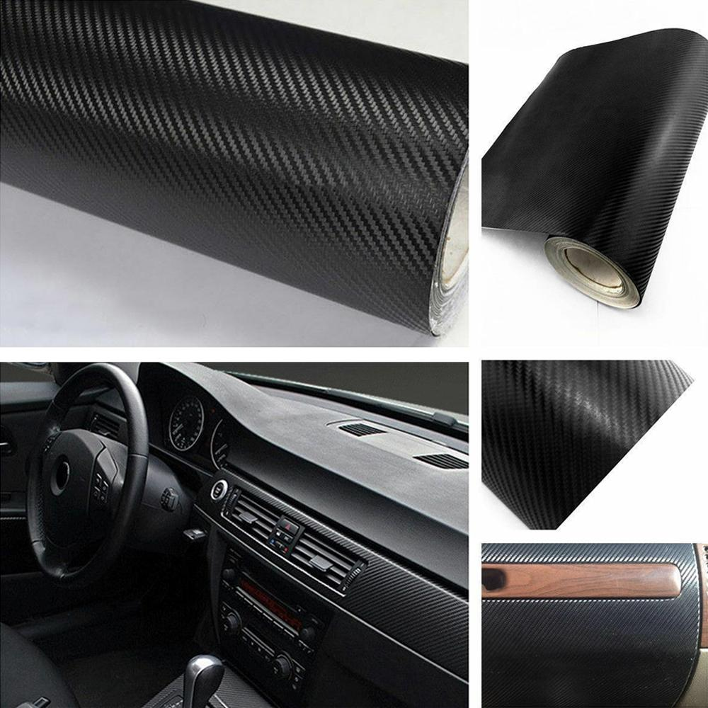 3D black Car Interior Accessories Carbon Fiber Vinyl DIY  Sticker For toyota