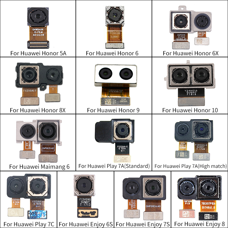 Big Camera Rear Camera Module Flex Cable For Huawei Play 7A 7C Enjoy 6S 7S 8 Rear Main Camera For Huawei Honor 5A 6 6X 8X 9 10