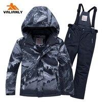 2020 Winter Ski Suit Kids Boys Snow Suit Children Waterproof Windproof Ski Jacket Pants 2 Pieces Ski Sets Snowboard Clothes 25C