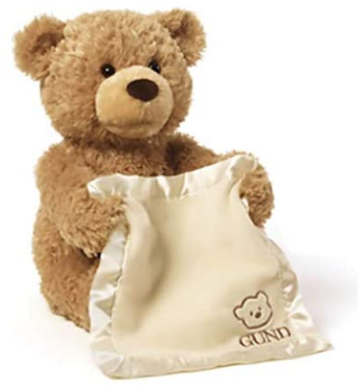 Peek a Boo Bear Play Hide And Seek Lovely Cartoon Stuffed Kids Birthday Gift 30cm Cute Music Bear Plush Toy