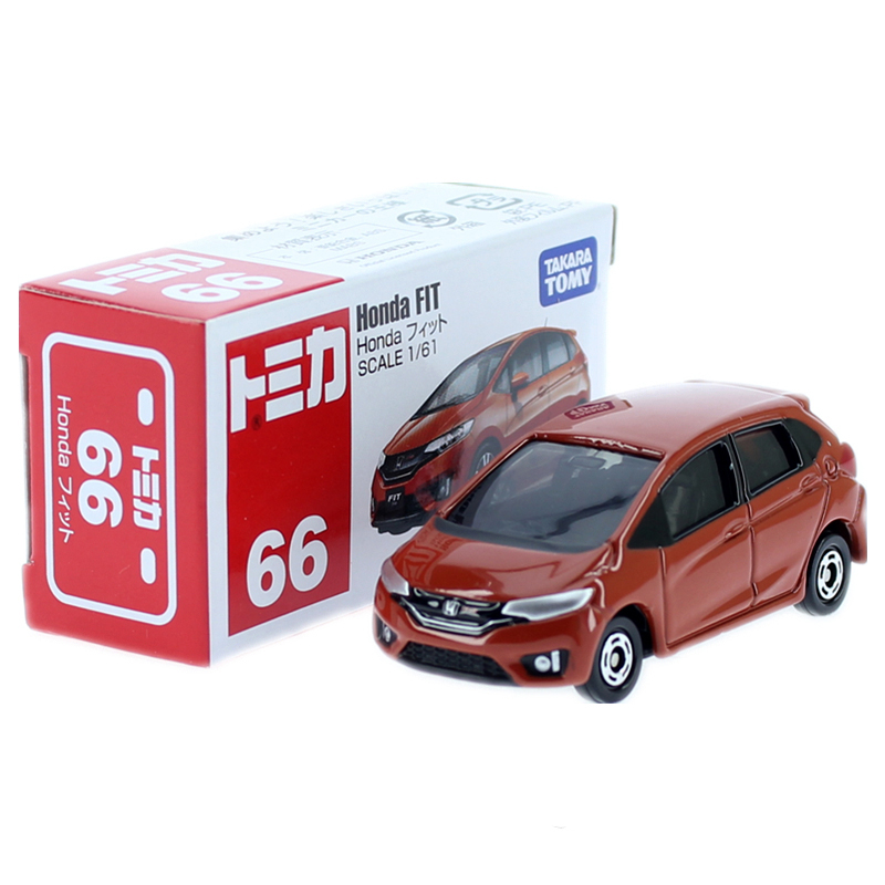 TAKARA TOMY Tomica 1:61 Honda Fit Orange #66 Die-cast Model Car Toy Car Boys Toys