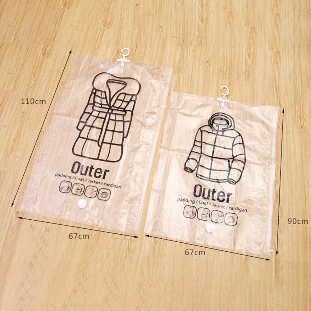 透明ぶら下げフック真空バッグダウンコート服ジャケット収納ポーチ袋店毛布羽毛布団のキルトダウンコートジャケット