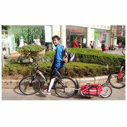 Einzelnen Rad Fahrrad Anhänger mit Freies Tasche können Last 66LB, Fahrrad Gepäck Anhänger, 16 zoll Große Rad Fracht Bike Anhänger