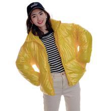 Fashion Women Solid Slim Ultralight Parka Winter Basic Short Jacket Warm Thick Coat Feminino Padded Outerwear Coats