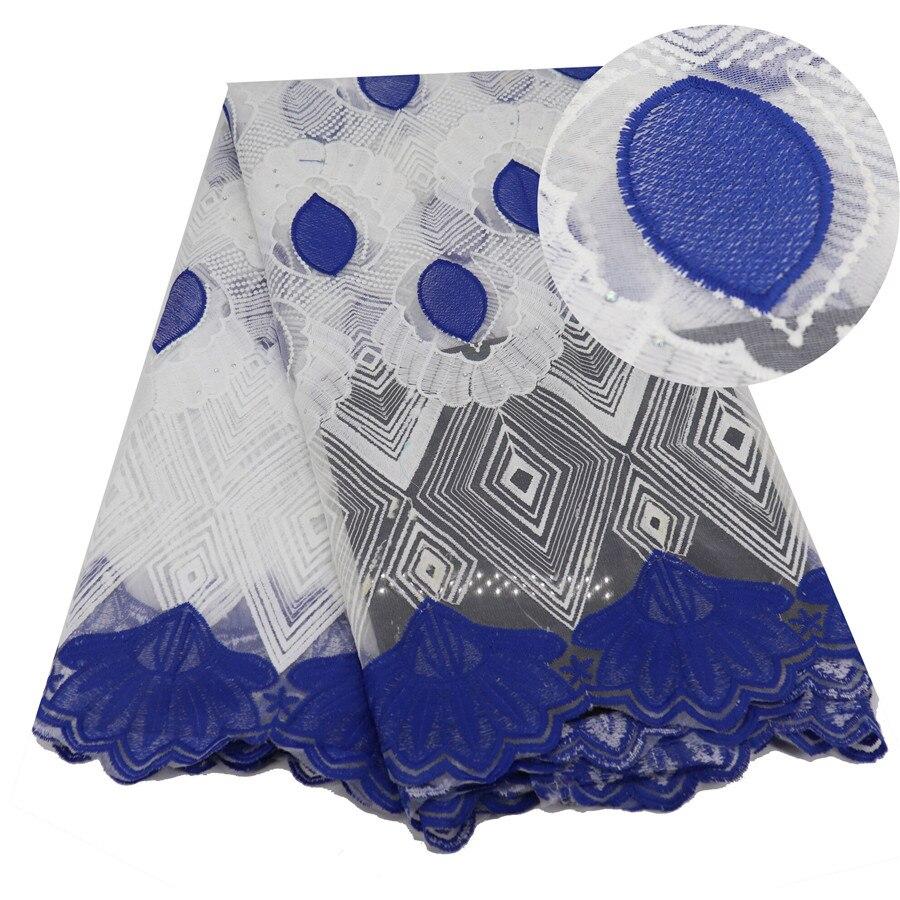 Bleu nouveaux Designs tissus de dentelle africaine 5Yards Guipure dentelle tissu de haute qualité cordon africain dentelle tissu pour robe de mariée