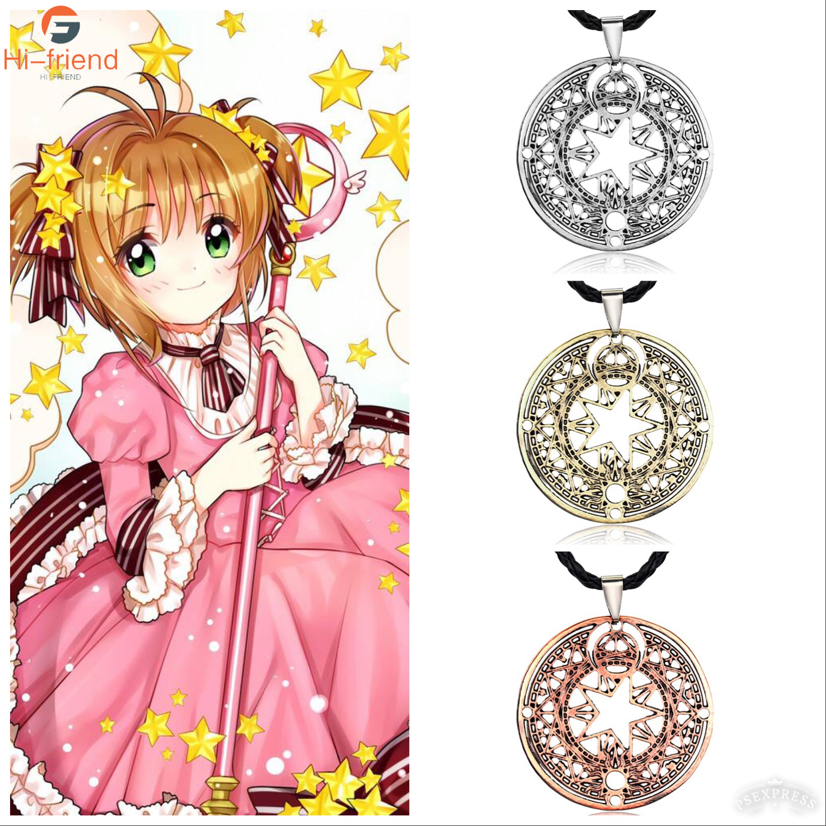 Sakura Card Captor Necklace Collares Cardcaptor Magic Circle Colar Masculino necklace Jewelry