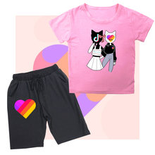 Likee children's clothes sets boys t shirt and shorts pants
