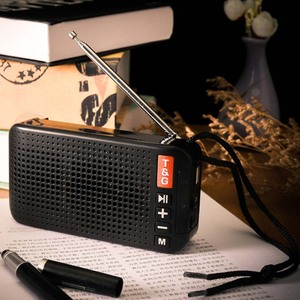 Image 5 - محمول راديو FM مصغرة الشمسية بلوتوث 5.0 المتكلم مع مصباح ليد جيب دعم يدوي TF بطاقة U القرص مشغل MP3