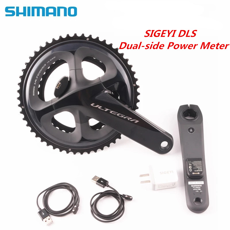 <font><b>SHIMANO</b></font> <font><b>ULTEGRA</b></font> <font><b>R8000</b></font> Road Bike Bicycle <font><b>Crankset</b></font> With SIGEYI DLS METER Crank 170mm 172.5mm <font><b>Crankset</b></font> Update AX-POWER image