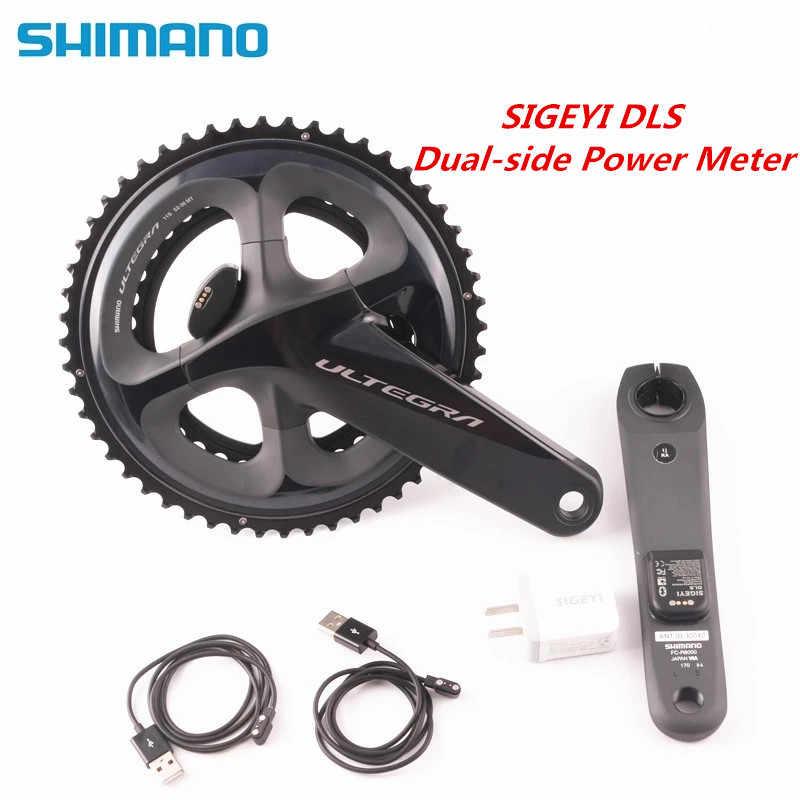 SHIMANO ULTEGRA R8000 vélo de route pédalier avec SIGEYI DLS compteur manivelle 170mm 172.5mm pédalier mise à jour AX-POWER
