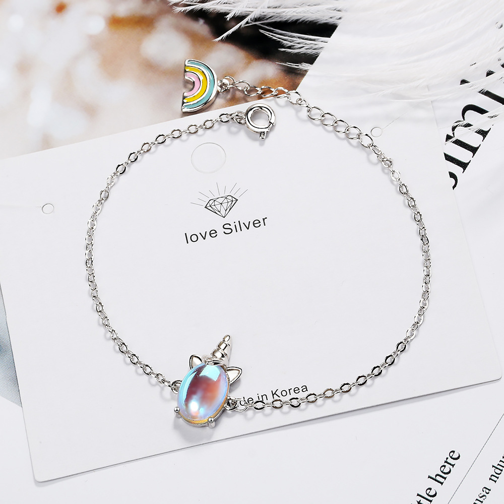 CHENGXUN Cute Unicorn Bracelet for Girls Women Animal Bracelets Romantic Fashion Jewelry Christmas Present for Children Daughter 2
