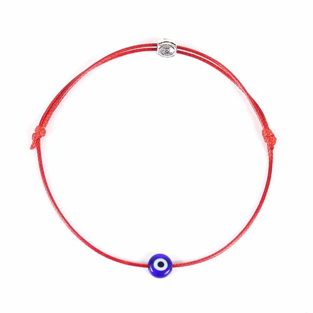 Mode Dunne Zwarte Rode Draad Armband String Touw Gevlochten Armbanden Voor Vrouwen Mannen Verstelbare Lengte Goede Lucky Sieraden