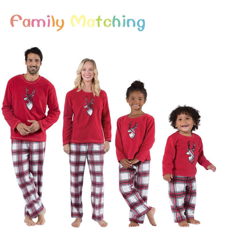 Family Matching Pajamas-Set Outfits Sleepwear Son-Daughter New Xmas Nightwear Party