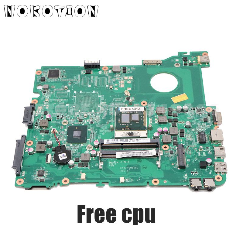 NOKOTION Laptop Motherboard For Acer Emachines E732 E732Z MAIN BOARD HM55 UMA DDR3 MBNCA06001 DA0ZRCMB6C0 Free Cpu