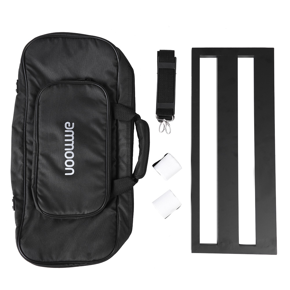 Image 3 - ammoon DB 2 Portable Guitar Pedal Board Aluminum Alloy with Carrying Bag Tapes Straps guitar accessories guitar pedal bag-in Guitar Parts & Accessories from Sports & Entertainment