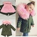 Коллекция 2019 года, новые зимние куртки для девочек, пальто для мальчиков детские парки с капюшоном и искусственным мехом Повседневная утепл...