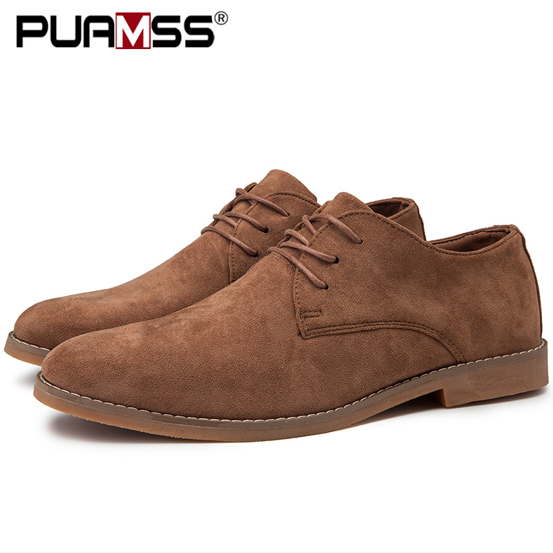 Image 2 - 2019 Men Shoes England Trend Casual Shoes Male Suede Oxford Wedding Leather Dress Shoes Men Flats Zapatillas Hombre Plus Size 46-in Formal Shoes from Shoes