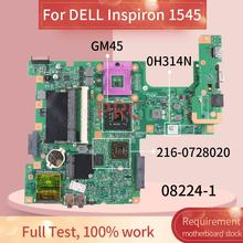 CN-0H314N 0H314N For DELL Inspiron 1545 Notebook Mainboard 08224-1 216-0728020 PM45 DDR3 Laptop Motherboard