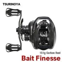 TSURINOYA Bait Finesse Casting Fishing Reel DARK WOLF 50 Ultralight 151g Trout Ajing Carbon Saltwater Baitcasting Reel