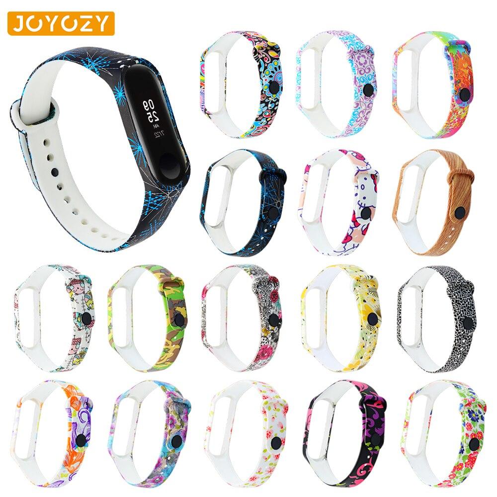 Joyozy New Printing Style Bracelet Silicone Strap For Xiaomi Mi Band 3 Strap Waterproof Sports Strap For Xiaomi Mi Band 4 Strap