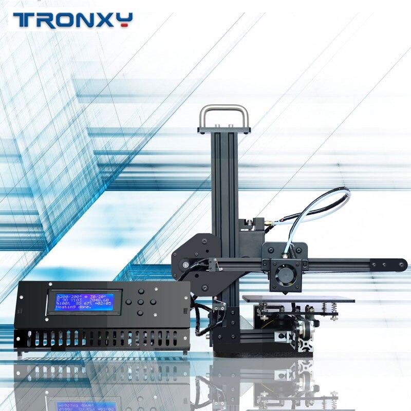Tronxy X1 Imprimante 3D I3 Impresora poulie Version Guide linéaire Imprimante LCD affichage bricolage haute précision Support d'impression hors ligne