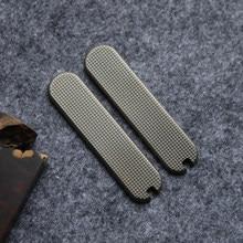 Feito-à-medida escala de bronze 58mm com pinça e palito para victorinox swiss exército faca mod