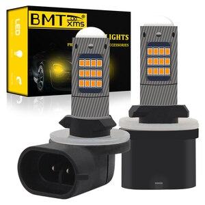 BMT h27 h27w2 h27w/2 LED Bulb h27w 880 881 h27w1 42SMD led fog lights lamp cars daytime running lights DRL LED 12V 24V Auto Lamp(China)