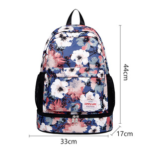 Image 5 - Women Gym Backpack Flower Fitness Bag Sac De Sport Bags Dry And Wet Independent Shoes Bags Female Bolsa Deporte Gymtas XA906WA