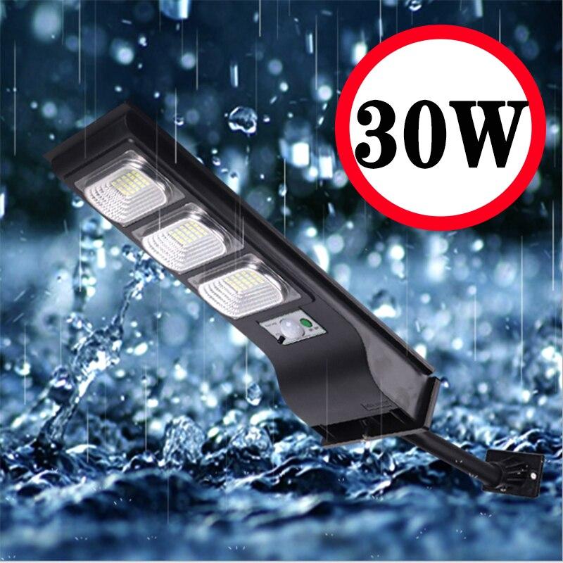 LED outdoor solar street light PIR Motion Sensor Wall Light  Adjustable Waterproof IP65 10W 20W 30W Yard Path Home Garden Lamp 1