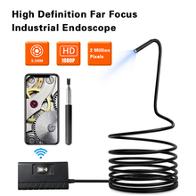 1080P HD Wireless WiFi Endoscope Camera IP68 Waterproof Industrial Endoscope Inspection Camera For Android iPhone IOS Endoscope 7mm2 mian zhuo phone hd waterproof camera industrial endoscope pipeline inspection tools for unlocking cars detection