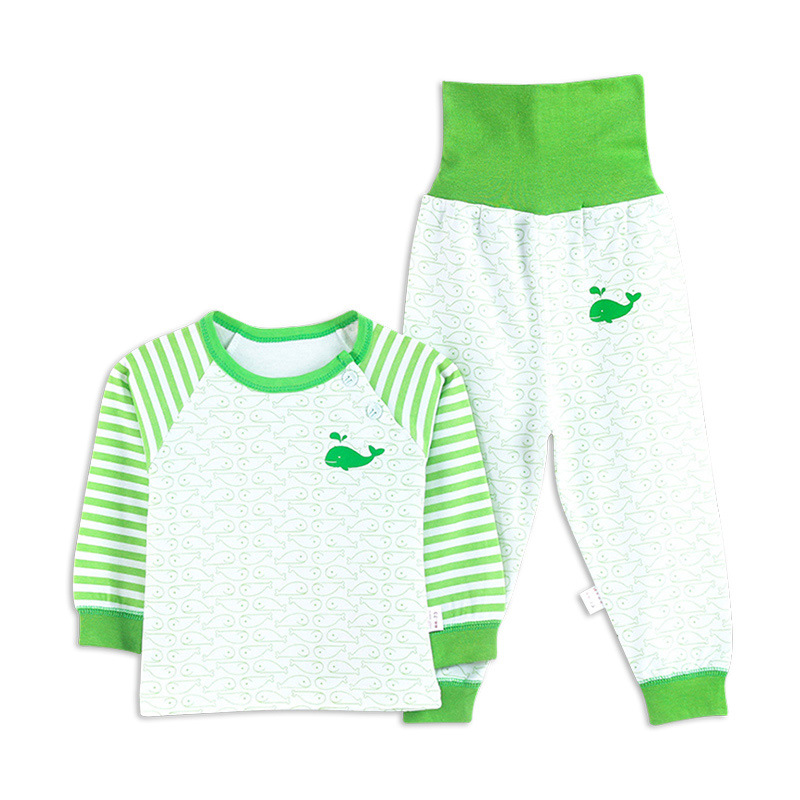 2019 Autumn And Winter New Style Childrenswear Children Baby Pure Cotton Underwear Suit Infants High-waisted Bellyband Childrens
