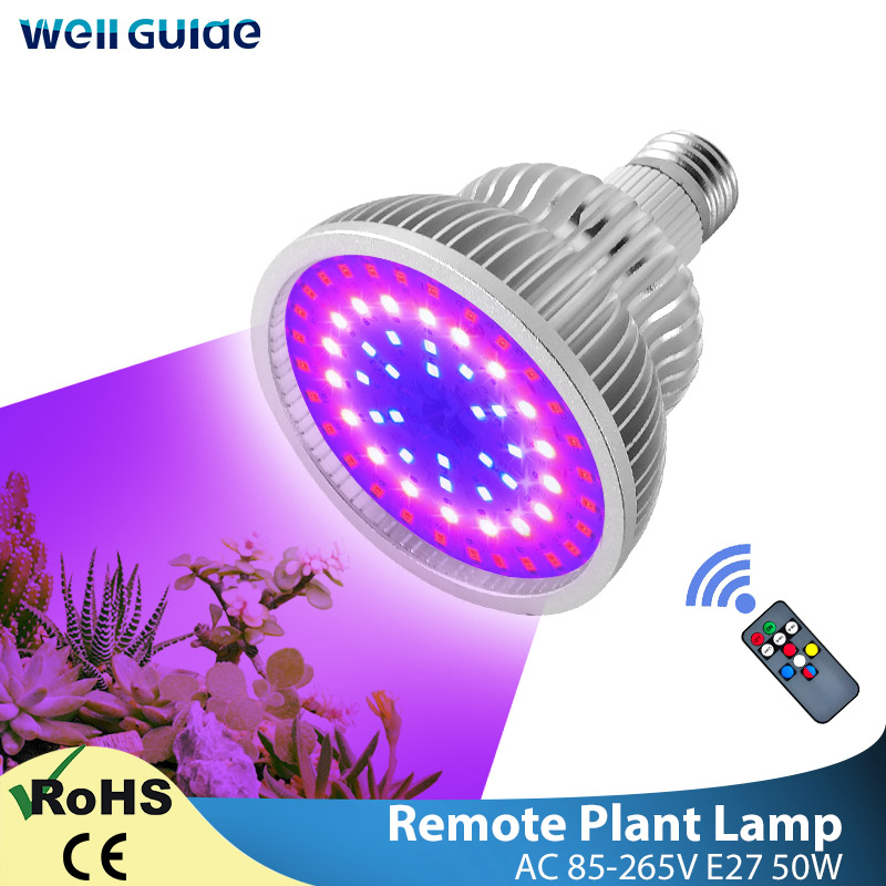 LED Grow Light LED Lamp E27 4W 3W 50W 80W AC85-265V Full Spectrum Indoor Plant Lamp IR UV For Flowering Hydroponics System