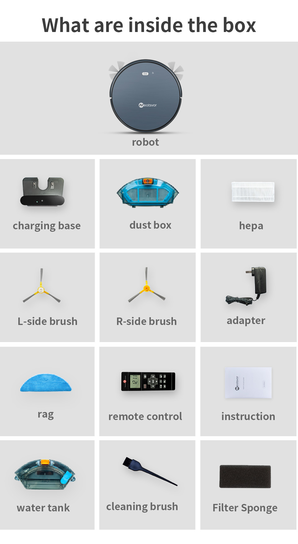 Hd69b69eb75664c80939c4b21b34509adZ NEATSVOR X500 Robot Vacuum Cleaner 1800PA Poweful Suction 3in1 pet hair home dry wet mopping cleaning robot Auto Charge vacuum
