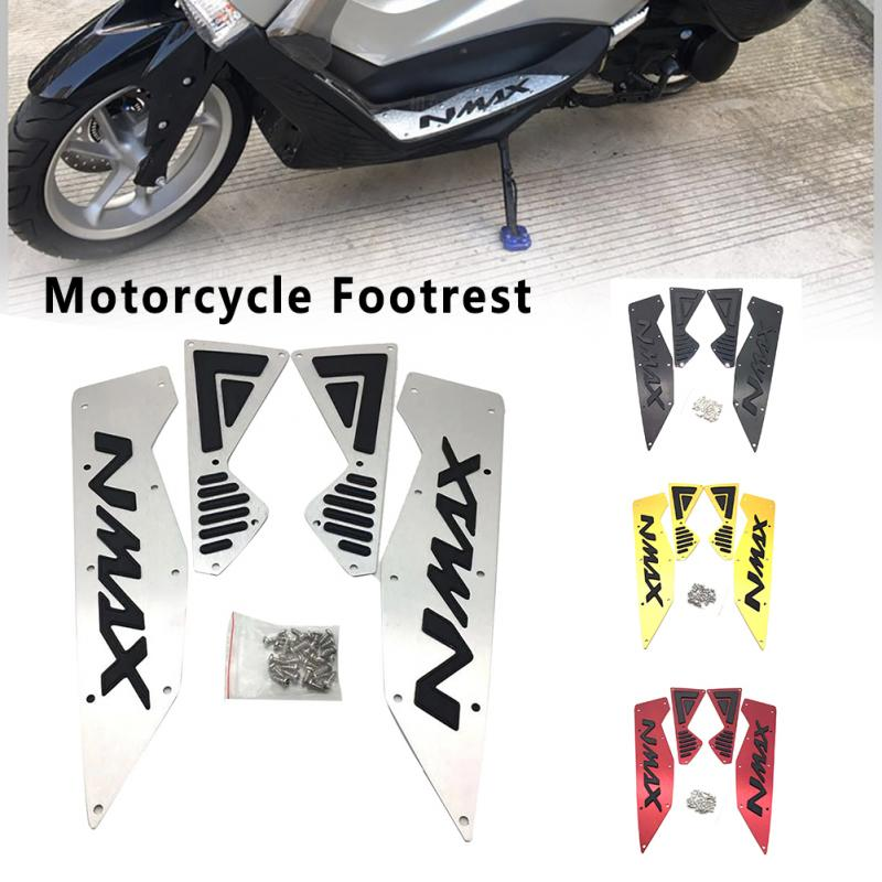 Motorcycle Modified Part Mats CNC Footrest Aluminum Alloy Pedal Plate For Yamaha Nmax 155 Nmax155 Nmax 16-19 Motorcycle Footrest