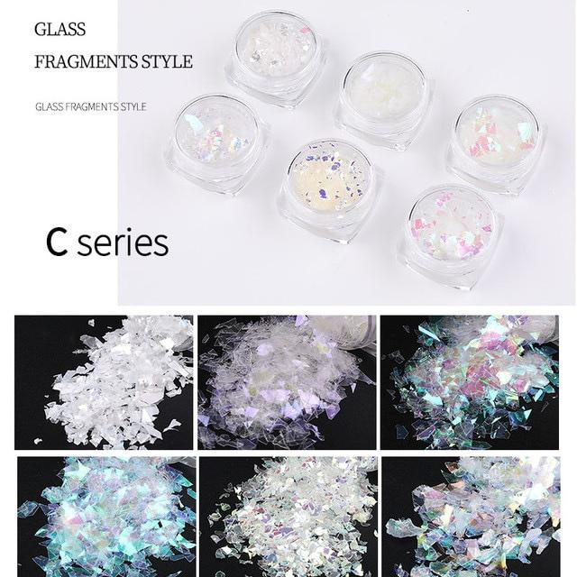 3d набор с блестками голографический блестящий для ногтей в фотография
